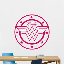 Personalized Wonder Woman Wall Decal Custom Girl Vinyl Sticker Poster 167zzz