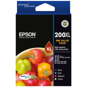 Genuine Original Epson 200XL High Yield Ink Cartridge or 4 Colour Value Pack