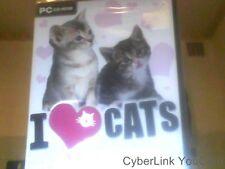 Jeu pc dc rom I love cats je joue avec mon chat