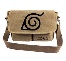 Anime Naruto Konoha Canvas Shoulder Bag Boy Girl School Bag Crossbody Cosplay