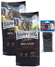 2x12,5kg Happy Dog IRLAND Hundefutter + 80 Stk. Kotbeutel *** TOP PREIS ***