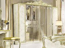 Kleiderschrank Schlafzimmerschrank Spiegel/Holztüren Hochglanz Barockstil Möbel