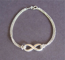 """Tiffany & Co Sterling Silver Infinity Bracelet Small 6 1/2"""" Box Pouch"""