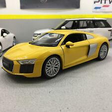 Audi R8 V10 2016 Yellow 1:24 Scale Die-Cast Model Car