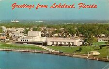 Lakeland Civic Center Lake Mirror Lakeland Florida FL Postcard