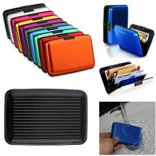 US Aluminum Metal Wallet Business ID Credit Card Case Holder Anti RFID Scanning