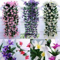 Artificial Flower Silk Plant Hanging Vine Lily  Garland Wedding Home Garden Deco