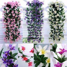 Artificial Purple Garland Wedding Home Balcony Hanging Flowers Long Fake Plant
