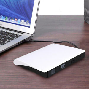 USB 3.0 External DVD ROM Drive CD Rewriter Burner Reader For Mac Laptop PC
