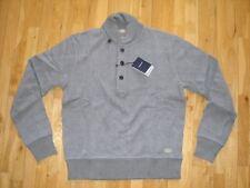 Gant Riviera Chic R.C. Shawl Collar Neck Sweater Jumper Fine Knit Grey Cotton M