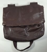 New York Leather Cross body bag purse soft leather brown distressed used boho