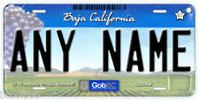 Baja California Mexico Any Text Retro Look Novelty Auto Car License Plate C04