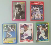 Lot of 5 Sammy Sosa Baseball Cards (Fleer Donruss Score Topps Studio Rookie 1990