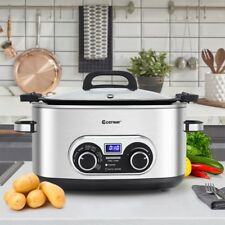 1PC 4-in-1 6 Quart Stainless Multi Cooker Kitchen Appliances Slow Cooker Tool US