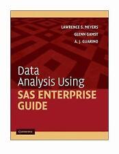 Data Analysis Using SAS Enterprise Guide by Meyers, Lawrence S., Gamst, Glenn,