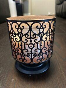 Bath & Body Works Black Ornate Heart Pedestal 3-Wick Candle Holder NEW