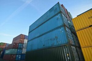 40ft shipping container. Used storage container. 100% watertight