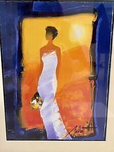 Emile Bellet Signed Artist Proof Lithograph Framed Fine Art Bride Wedding Gift