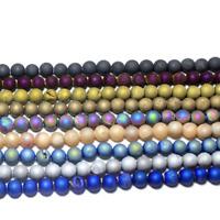 "4/6/8/10/12mm Natural Quartz Geode Agates Stone Beads Loose Bead 15.5"" AYZ53"