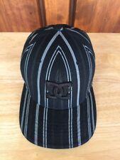 DC Shoes Flexfit Skateboarding Snowboard Black & Gray Striped Baseball hat S-M