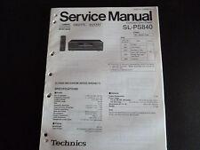 Original Service Manual Technics  Compact Disc Player SL-PS840