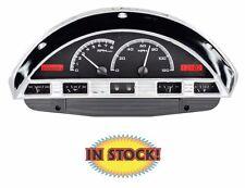 Dakota Digital 1956 Ford Pickup VHX Instrument System Black/Red VHX-56F-PU-K-R