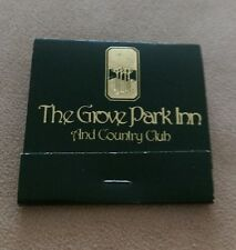 Vintage matchbook THE GROVE PARK INN AND COUNTRY CLUB Asheville North Carolina