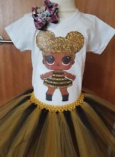 LOL DOLLS  tutu dress set Queen Bee tutu dress set Gold tutu