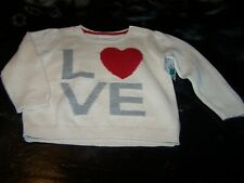 Girls 12/18 Mo~Pullover Sweater~French Vanilla (Love)~Baby Gap~Nwcot~Gbg