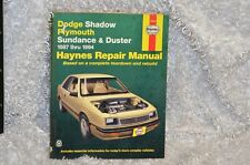 Dodge Shadow / Plymouth Sundance and Duster 1987 - 1994 Repair Manual