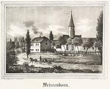 WEISSENBORN / WEIßENBORN (ZWICKAU) - Johanniskirche - Lithografie 1842
