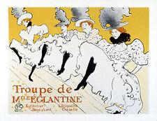 """""""Troupe de Mlle Eglantine"""" by Henri de Toulouse Lautrec  Limited ed. Lithograph"""