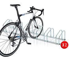 Juego de 2 Aparcamiento para 6 Bicicletas Soporte para Aparcar Bici Suelo Pared