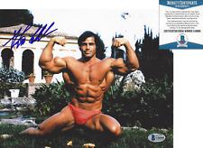 FRANCO COLUMBU MR. OLYMPIA BODYBUILDER SIGNED 8x10 PHOTO 2 PROOF BECKETT COA BAS