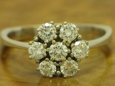 14kt 585 White Gold Ring with 1,03ct Brilliant Decorations/ Diamond/ 3,5g/ Rg