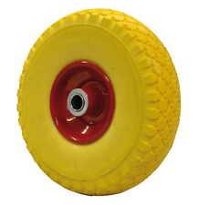 coppia ruota ruote per carrello portapacchi piena in poliuretano giallo 260x75