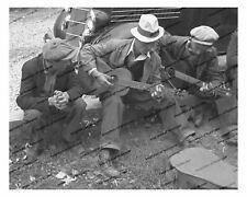 Vintage photo-jam session-musicians-old car-8x10 in.