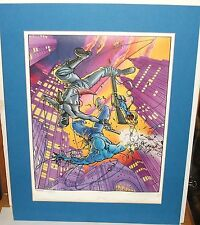 """DAVID LAPHAM """"MONGREL"""" LIMITED EDITION HAND SIGNED IN PENCIL LITHOGRAPH WITH COA"""