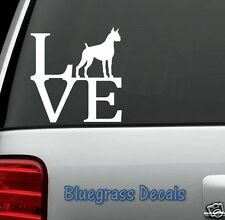 B1003 BOXER LOVE DOG Decal Sticker for Car Truck SUV Van LAPTOP GERMANY BREED