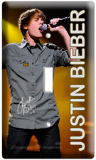 JUSTIN BIEBER SINGS SINGLE LIGHT SWITCH COVER WALL PLATE TEENAGE GIRL ROOM RECOR