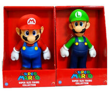 2 LARGE SUPER MARIO BRO & LUIGI GAME ACTION FIGURE DOLL KIDS FIGURINES TOY GIFTS