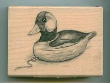 Inkadinkado rubber stamp Wood Duck Decoy wood mounted, Birds, 60-00730