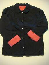 Lands End Girls Reversible Quilted Dory Jacket Coat Navy - Pink Sz M 10-12