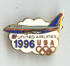 UNITED Airlines Olympic Games 1996 Badge Boeing 747