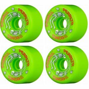 Powell Peralta G-Bones Green 64mm 97a Skateboard Wheels + 8 x ABEC11's