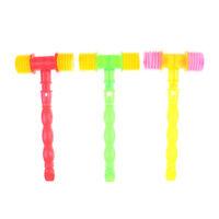 Durable Child Whistle Training Baby Handle Plastic Hammer Noisy Whistle Toys FT