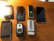 Lot Of 7 Cell Phones, Nokia, Pantech, iPhone & Flip Varied Conditions Sold As Is
