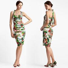 ed58a9f3 Dolce&Gabbana Flower Print Silk Charmeuse Coctail Dress sz 46/10 USA