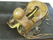 Antique Half Saddle #3-Old Mexican-Western-Rustic-Vaquero-Cowboy-Leather