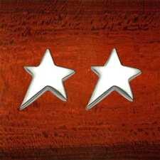 Sterling Silver High Polish Shooting Star Stud Earrings